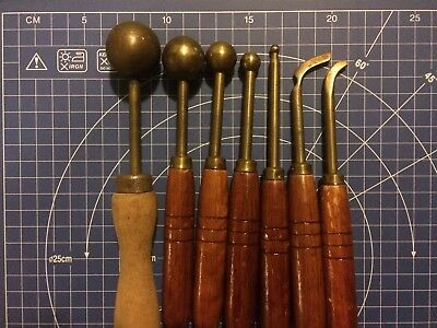 Vintage: Lovely Set of 7 x French FlowerMillinery Tools - Estate Sale finding
