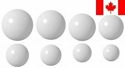 Bearing Ball Store 8DELSET 8 Ball Delrin Coin Ring Making Ball Assortment, White