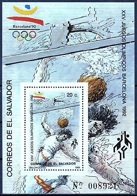 El Salvador MiNr. Bl. 39 A ** Olympische Sommerspiele 1992 in Barvelona