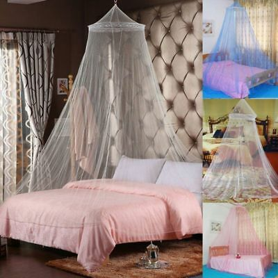 Elegant Lace Bed Mosquito Netting Mesh Canopy Princess Round Dome Bedding Net CU