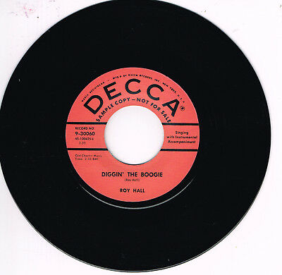 ROY HALL - DIGGIN' THE BOOGIE / THREE ALLEY CATS (Rockabilly Monsters - Repro)