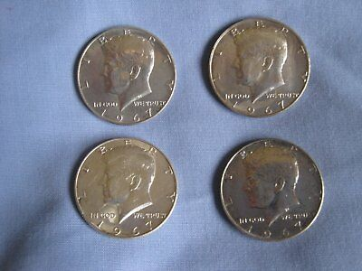 USA 1967 Kennedy Half Dollar Lot of 4