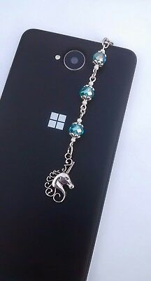 Phone Charm Unicorn Turquoise Beads Dust Plug for Tablets & iPads with Gift Bag