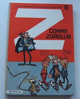 SPIROU AND FANTASIO Z AS ZHANG back round grey No.15a 1967 ALMOST NEW FRANQUIN