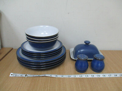 Denby Imperial Blue Tableware x 15 Pieces