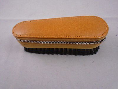 Vintage Two-Tix Clothes Travel Brush and Manicure Set In Pigskin Case 15cm