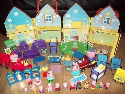 Large PEPPA PIG toy bundle including Playsets and Figures