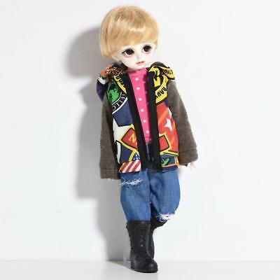 Zipper Outfits Clothes for 1/6 BJD SD AS DZ Top Clothing Coat Dress Up ACCS