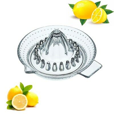 Luminarc Traditional Glass Lemon Lime Squeezer Fruit Squeezer Juicer Press 12cm
