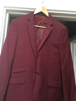 Red Marc Darcy Suit Jacket 36R 38R 40R Waist Coats & Trousers 30R 32R 34R