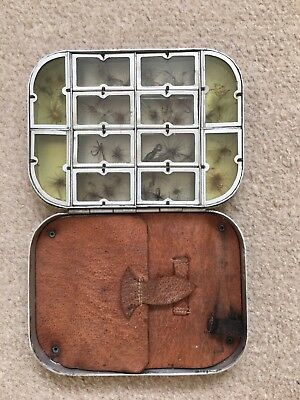 Vintage Fly Fishing Tin And 50 Flies