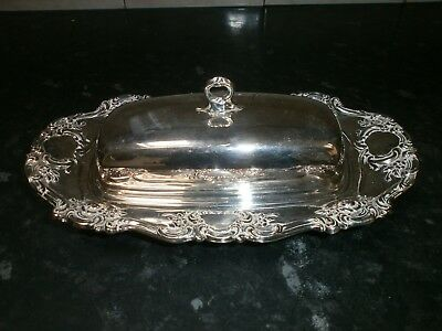Lovely Ornate Vintage Silver Plated Butter Dish