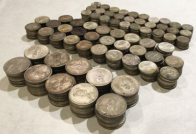 680 Old Philippines .750 Silver Coins 10/20/50¢ (Plenty Of Silver !!!) No Rsrv