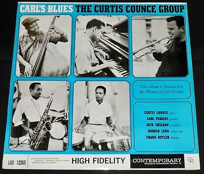 The Curtis Counce Group - Carl's Blues! 1960 Vogue Lac 12263 Rare Uk Orig Lp Nm!