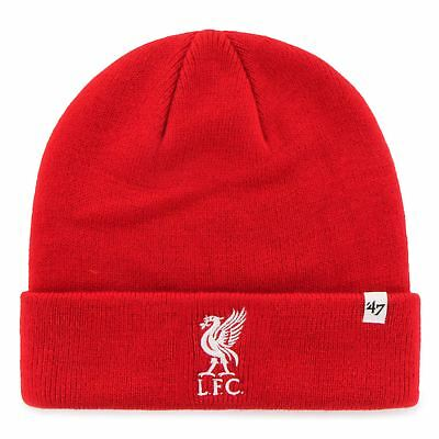 Liverpool FC LFC Mens Red '47 Cuffed Beanie Official