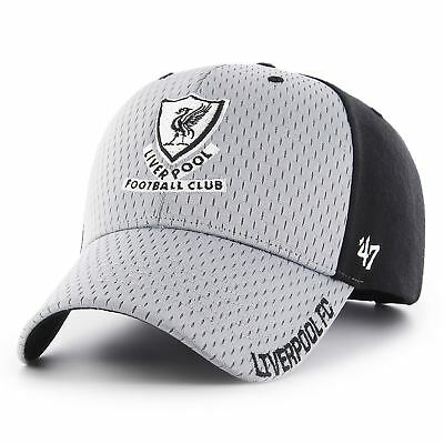 Liverpool FC LFC Mens Grey and Black '47 Feeney Cap Official