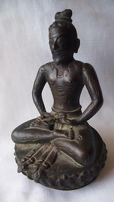 Antique Cast Bronze Buddhist Statue of Yogi – Himalayan?