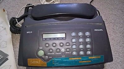 Philips telephone/fax/copier machine, model HFC 21. Fully working order.
