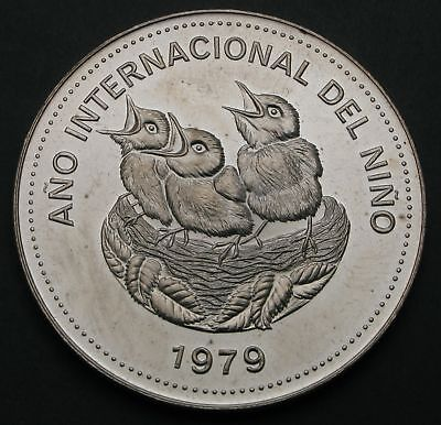 COSTA RICA 100 Colones 1979 - Silver - International Year of the Child - 454