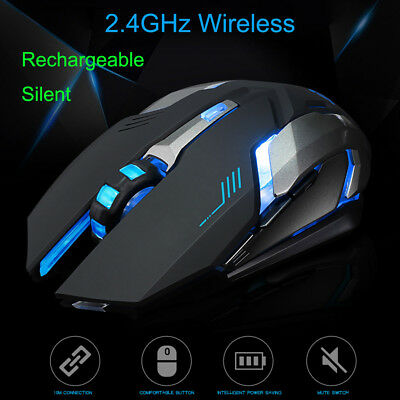 Rechargeable Bluetooth 3.0 Wireless Mouse 800/1200/1600 DPI Noiseless Mac/Laptop