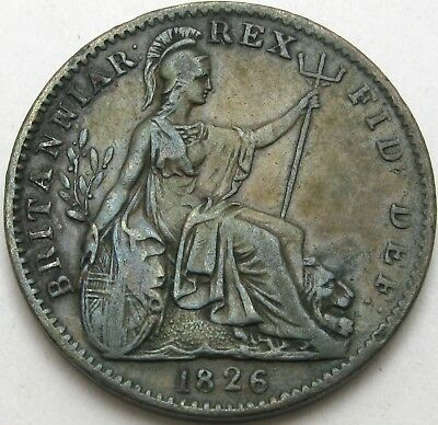 GREAT BRITAIN Farthing 1826 - Copper - George IV - VF - 1091 ¤