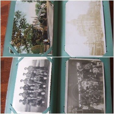 70 OLD VINTAGE POSTCARDS  in  SMALL OLD ALBUM, see photo's