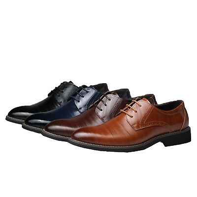 mens Business shoes Classic Cuban heel brogues Calf leather appeal plus size