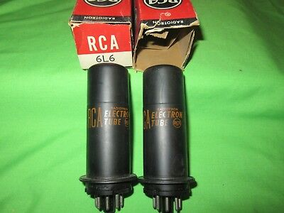 Lot Of 2 NOS RCA 6L6 Same Date Code MM Metal Tubes TV7 Tested