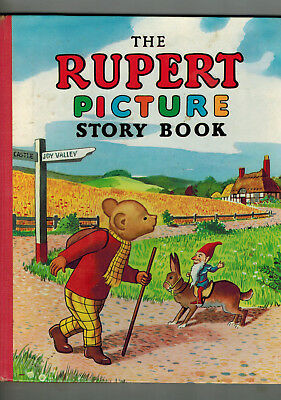 RUPERT PICTURE STORY BOOK 1950s nice!