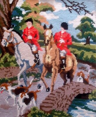 Vintage Penelope Completed Tapestry Cross Stitch Unframed Picture Going Home
