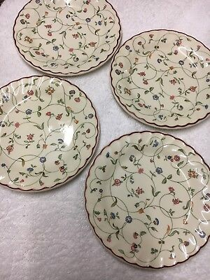 Staffordshire ( OAKWOOD )  Tea Plates X 4 V, Gd Cond