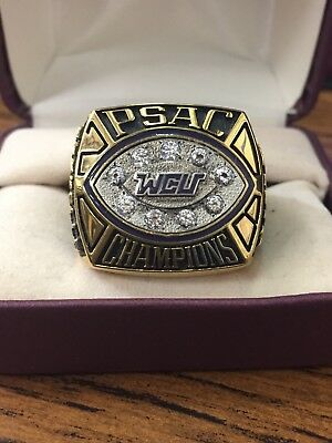 PSAC Championship Champions Ring WCU West Chester Golden Rams Football 2008