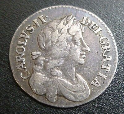 Charles II Maundy Fourpence Silver 1677