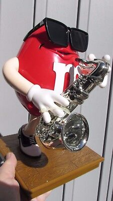M&M's(R) RED Sax Player Dispenser - New in Box - VERY RARE - 1999
