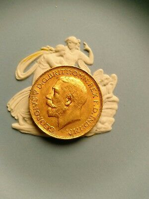 1918 souverain or gold king George V