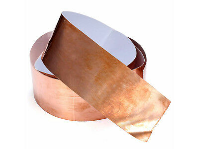 """FREE SHIPPING - 2"""" x 6 Foot Copper EMI Shielding Tape for Guitar or Bass"""