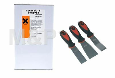 Paint stripper Heavy Duty Industrial Strength 5 Litre,3pce Scraper Kit + Gloves