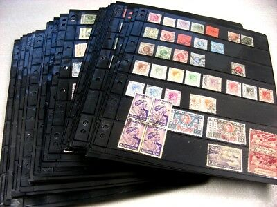 BRITISH COLONIES, Impressive Accumulation of Stamps in black  stock sheets