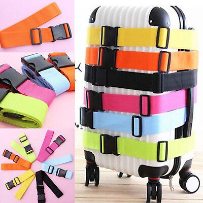Adjustable Travel Safty Luggage Suitcase Buckle Tie Down Strap Packing Belt US