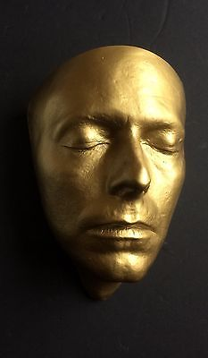 David Bowie Golden Face Cast  Life Mask Resin The Hunger Life Cast 1983