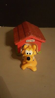 DISNEY PLUTO WITH DOG HOUSE Salt And Pepper Shakers Pre Owned