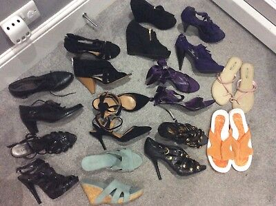 Job Lot Wholesale 10 Pairs Ladies Shoes Size 6,6.5&7 New Look Atmosphere Next
