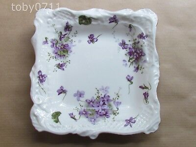"HAMMERSLEY VICTORIAN VIOLETS 7"" SQUARE DISH (Ref2597)"