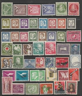 GERMANY 1949 - 1960 Mint Hinged  / USED 2 PAGES VERY. HIGH CV