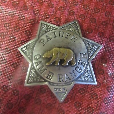 OBSOLETE COIN SILVER -PAIUTE GAME RANGER NEV Vintage Badge