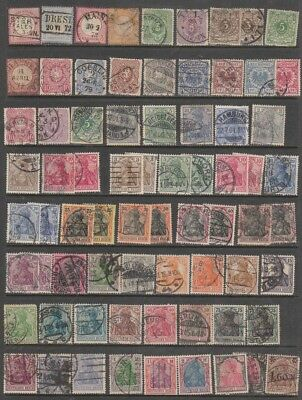 GERMANY 1870 -1949  Mint Hinged  /Mint no gum / used.  8 PAGES
