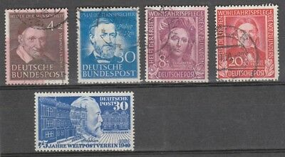 Germany 1949- 1951   Mlh Sg 1018 ,  Remainder Are Used  Cv £150
