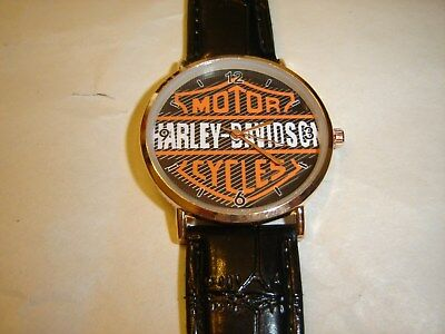 Harley-Davidson Mens Watch With Leather Band Free Shipping