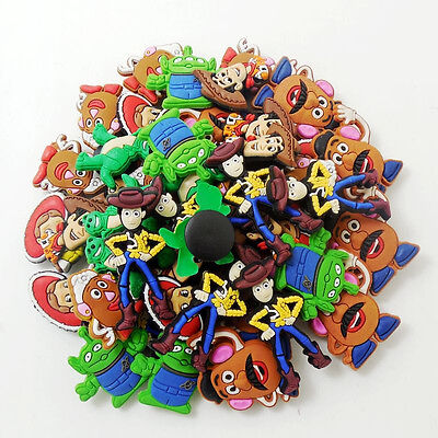 Kids Gifts 50pcs Cartoon Toy Story Shoe Charms Fit For Clog Sandals Bracelets