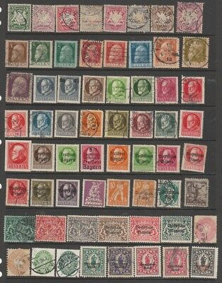 GERMANY  BAYERN, SAAR etc.  1875 - 1900s MH / USED  2 PAGES